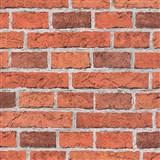 Papierové tapety na stenu Wood n Stone tehla červená