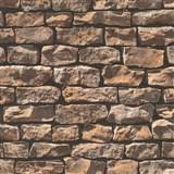 Vliesové tapety na stenu Wood'n Stone kameň hnedý