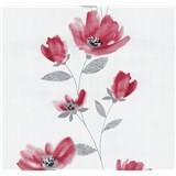 Vliesové tapety na stenu Blues kvety červené