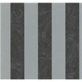 Vliesové tapety na stenu Carat pruhy čierno-strieborné
