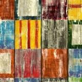 Samolepiace tapety d-c-fix - drevená mozaika akvarelová 45 cm x 15 m