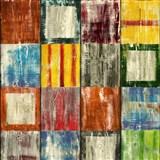 Samolepiace tapety d-c-fix - drevená mozaika akvarelová 67,5 cm x 15 m