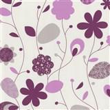 Tapety na stenu Delight - ružové design kvety - ZĽAVA