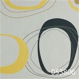 Tapety na stenu Ginas - elipsy čierno-žltej