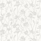 Tapety na stenu Dieter Bohlen - kvety svetlo hnedé s šedým žíhaním