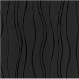 Vinylové tapety na stenu Easy Wall vlnovky čierne