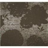 Vliesové tapety Estelle kvety hnedé
