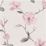 Tapety na stenu Fiori Grandi - kvety magnólie - ružové