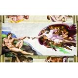 Fototapety Michelangelo Stvorenie Adama