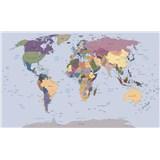 Vliesové fototapety mapa sveta rozmer 208 cm x 146 cm