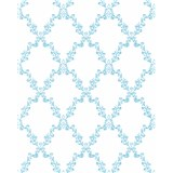 Tapety Glööckler Childrens Paradise - káro s modrými kvetmi na bielom podklade