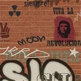 Detské tapety Graffiti - Ltd. Collection - Street Wall - tehlovooranžová - ZĽAVA