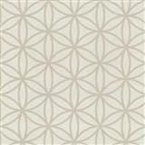 Vliesové tapety na stenu Graphics Alive - geometrické kvety svetlo hnedé