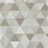 Vliesové tapety na stenu Graphics Alive - geometrický vzor hnedo-biely