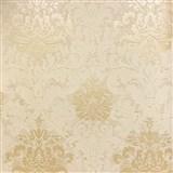 Tapety na stenu La Veneziana 3 zámocký vzor damašek stredne hnedý