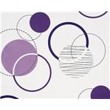 Vliesové tapety Suprofil - Rings - fialové