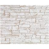 Vliesové tapety Suprofil - kamenný obklad - svetlo hnedý odtieň