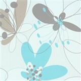 Vliesové tapety na stenu Suprofil Selection kvety modro-hnedé