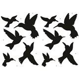 Samolepky na stenu - vtáky kolibríci 45 x 65 cm