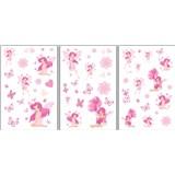 Samolepky na stenu - víly ružové