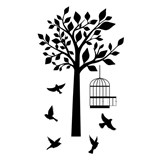 Samolepky na stenu vtáky a strom
