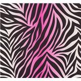 Vliesové tapety NENA zebra vzor ružový