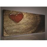 Obraz na stenu srdca 145 x 45 cm