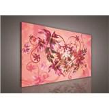 Obraz na stenu srdce s kvetmi 75 x 100 cm