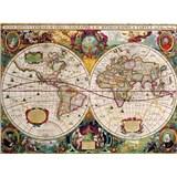 Retro tabule world map 40 x 30 cm