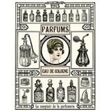 Retro tabule Parfums 40 x 30 cm