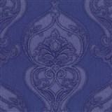 Vliesové tapety na stenu Studio Line - Graceful zámocký vzor modro-fialový s leskom