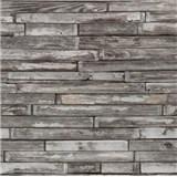 Tapety na stenu papierové - drevený klinker hnedo-šedý