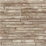 Tapety na stenu papierové - drevený obklad svetlo hnedý