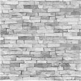 Tapety na stenu papierové - kamenný obklad svetlo šedý