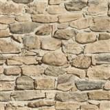 Tapety papierové - ukladaný kameň béžový