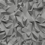 Vliesové tapety na stenu Times - 3D hrany sivo-strieborné