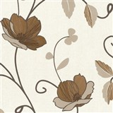 Tapety na stenu Trésor Reloaded - japonské kvety - medené