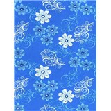 Obrusy - kvety modré