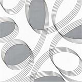 Vinylové tapety na stenu WohnSinn - abstraktné elipsy strieborné